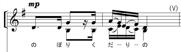 複数の旋律